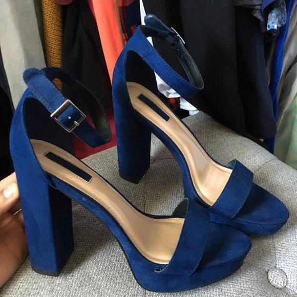Shoes | Navy Blue Heels | Poshmark